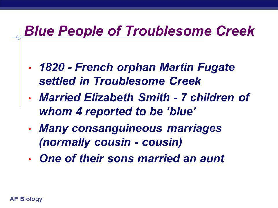 Blue People of Troublesome Creek