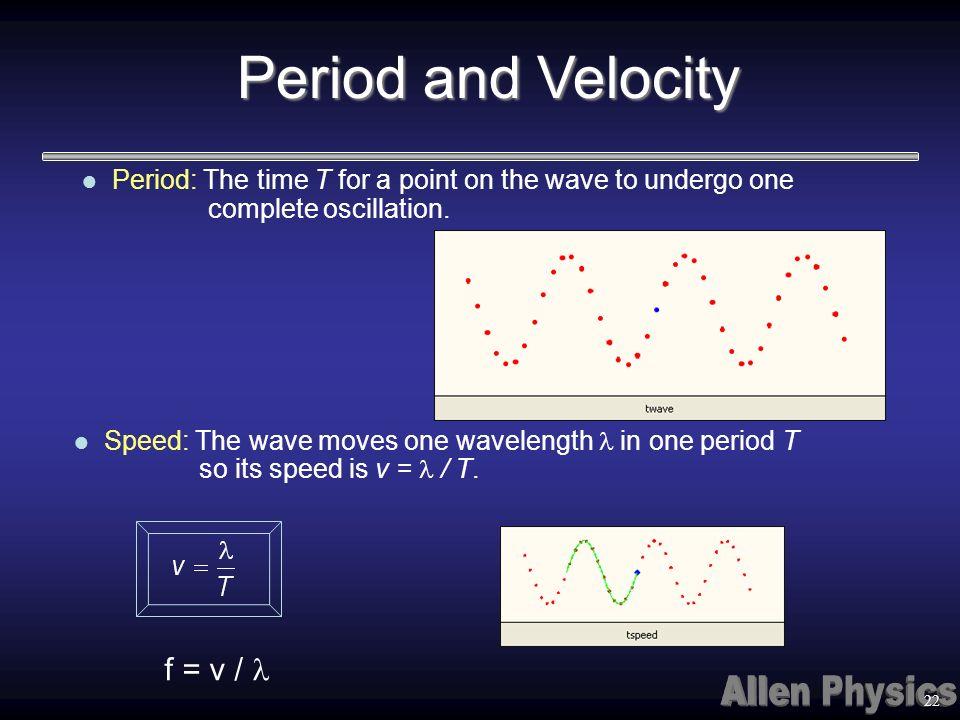 Period and Velocity f = v / l