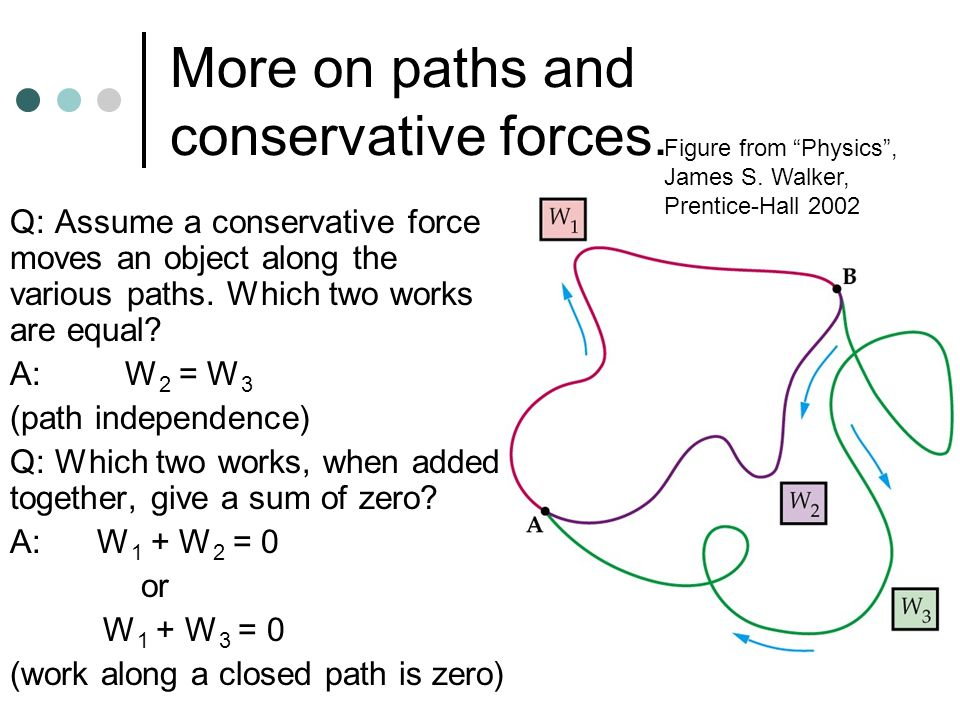 More on paths and conservative forces.