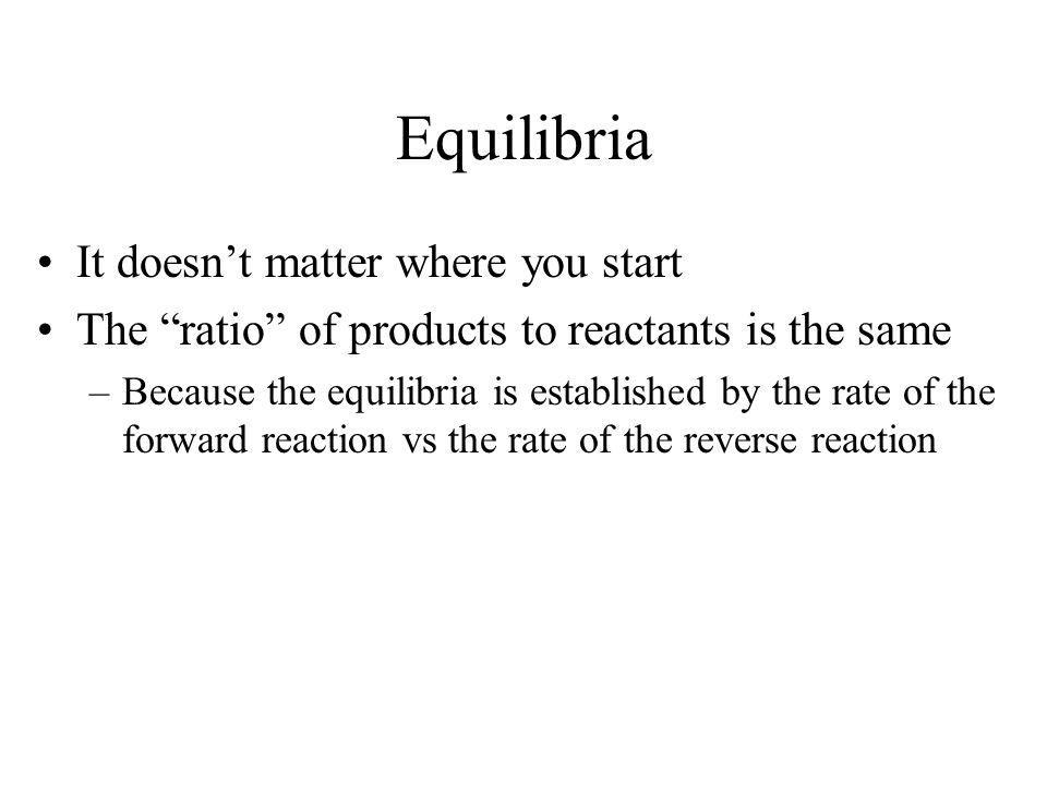 Equilibria It doesn't matter where you start