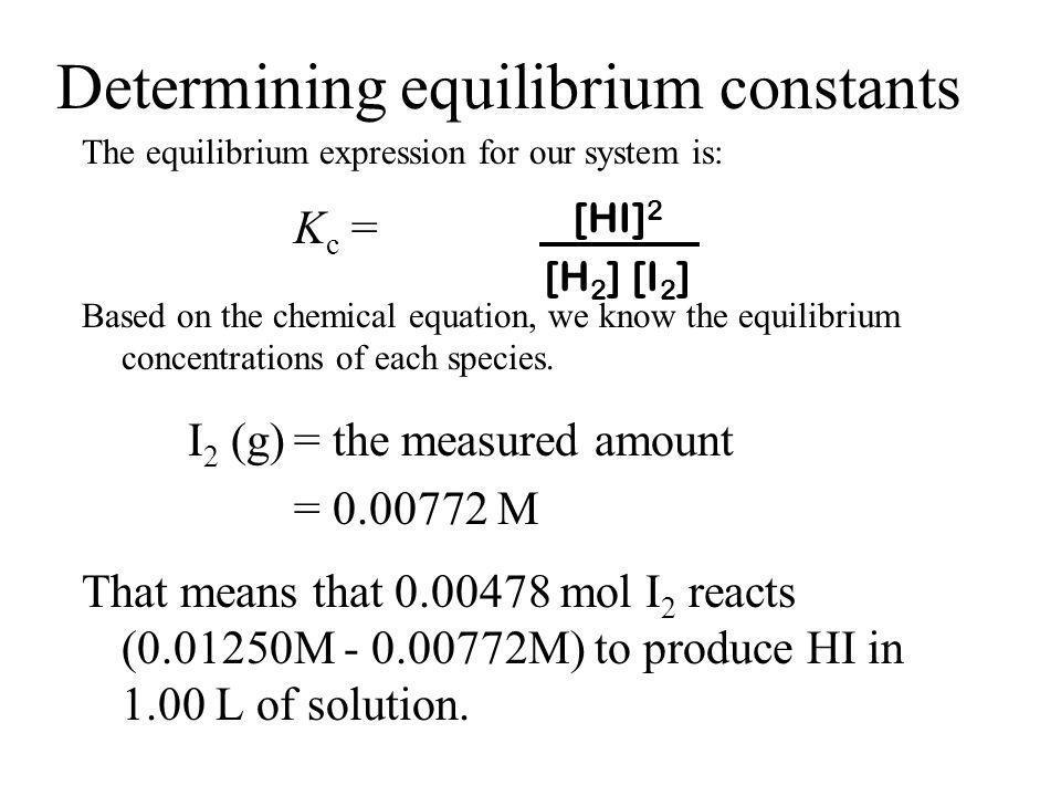 Determining equilibrium constants
