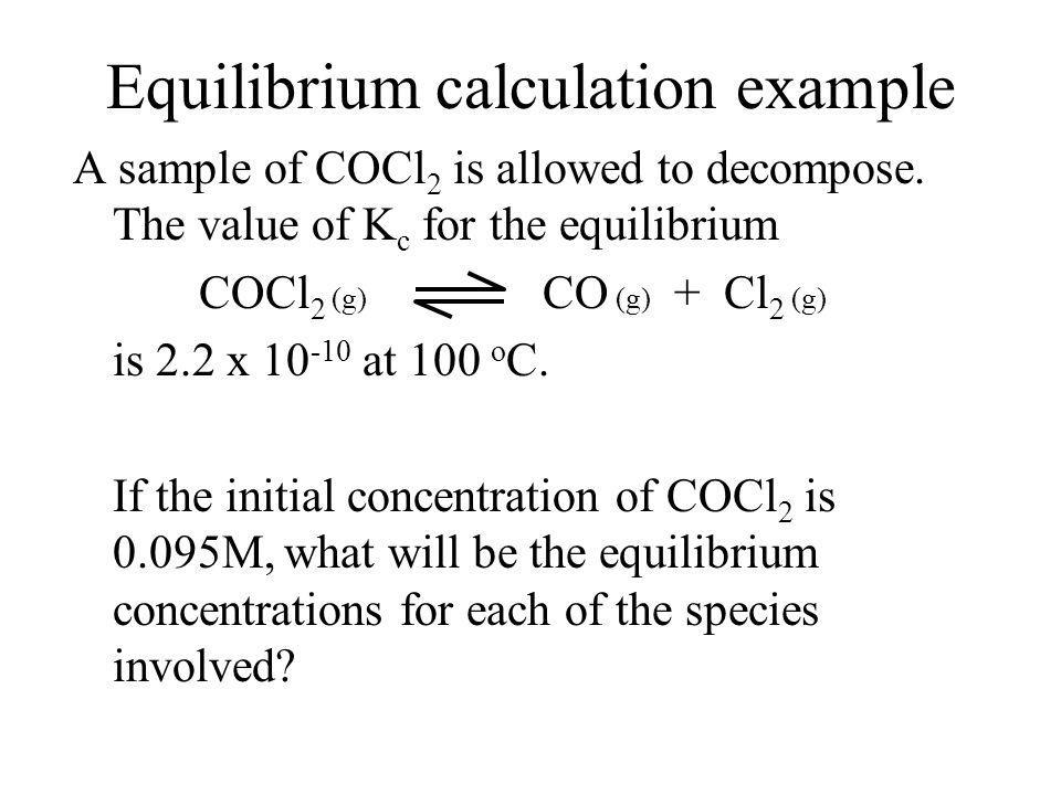 Equilibrium calculation example