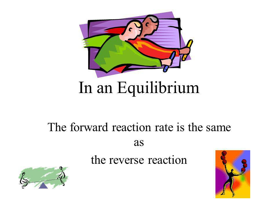 The forward reaction rate is the same as the reverse reaction