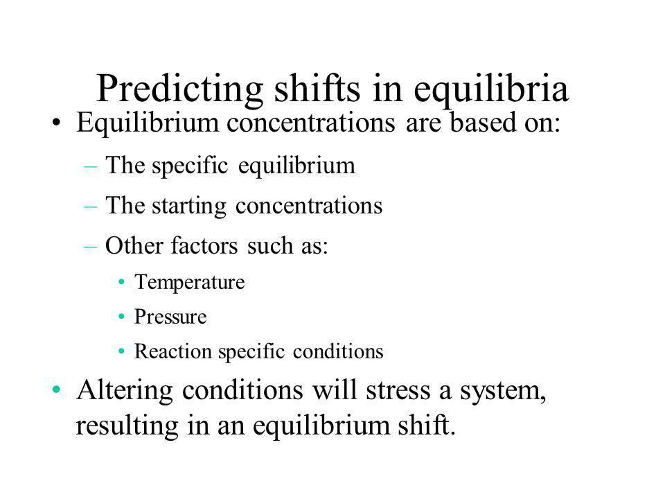 Predicting shifts in equilibria