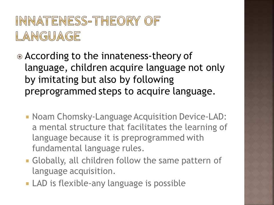 Innateness-Theory of Language