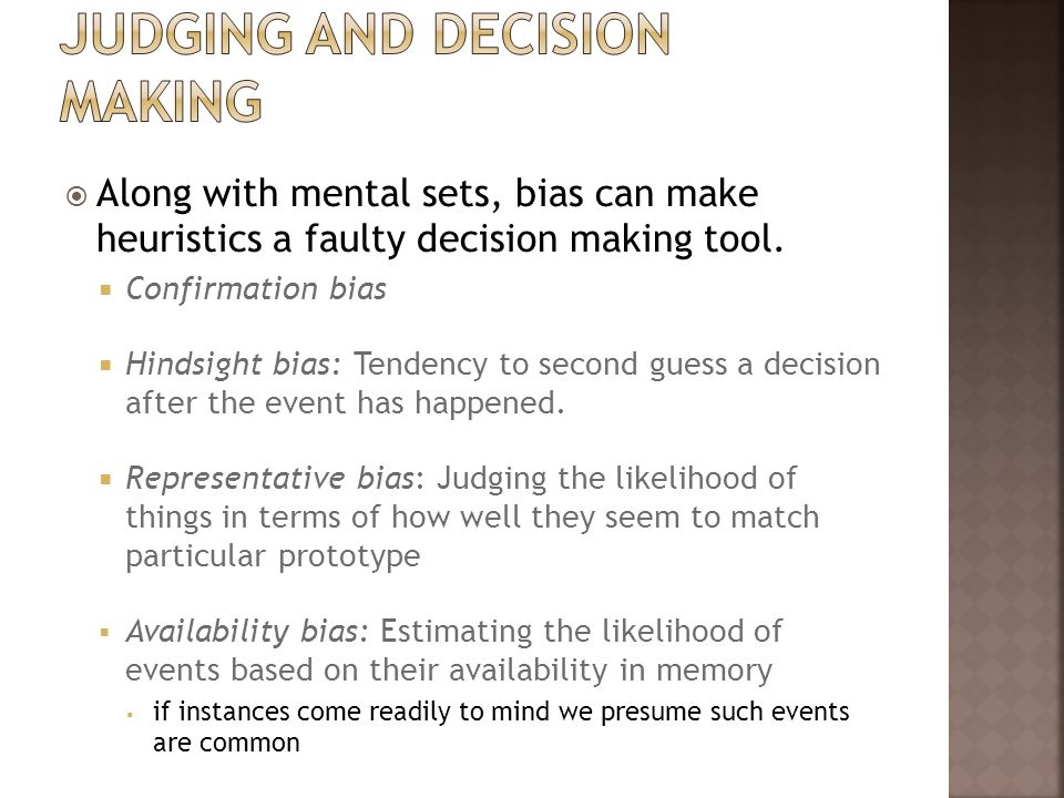 Judging and Decision making