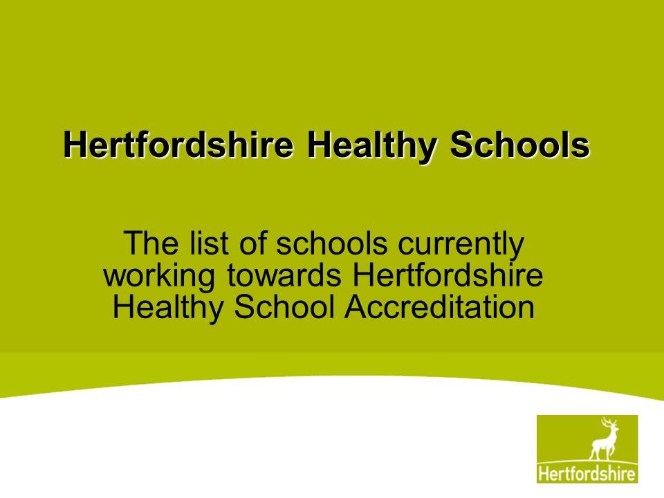 Hertfordshire Healthy Schools