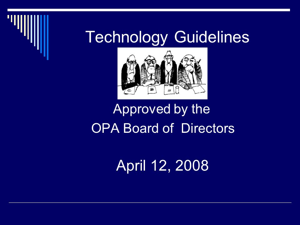 Technology Guidelines