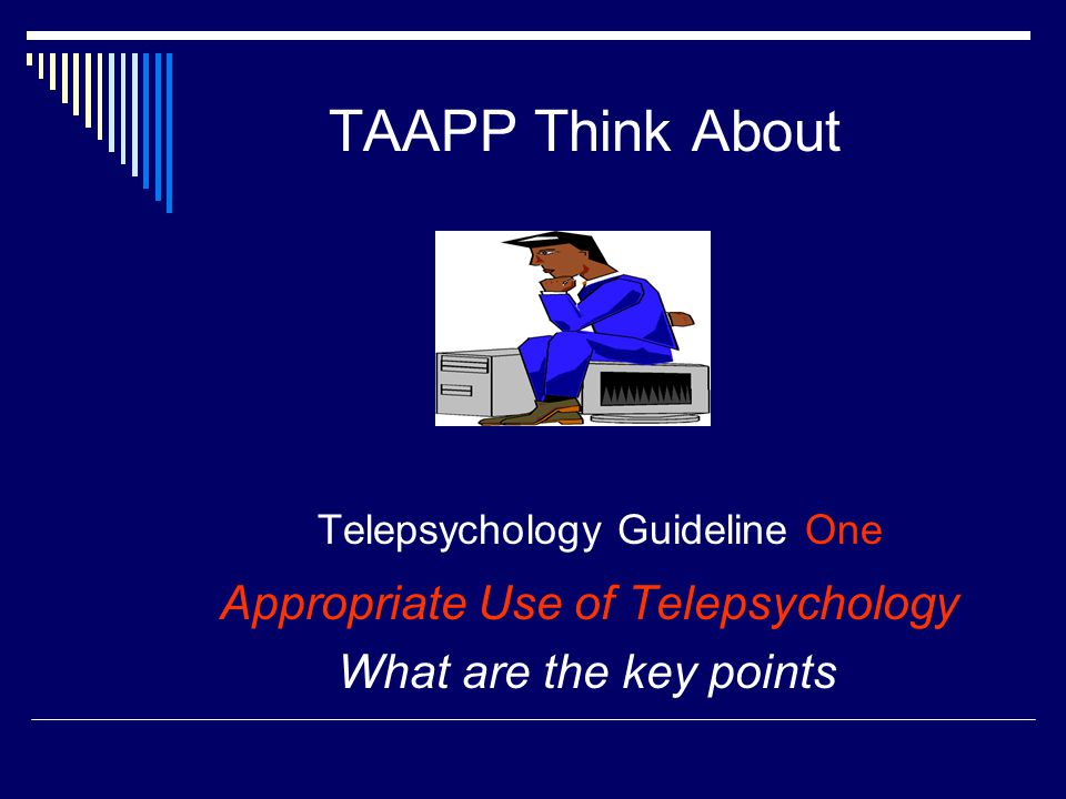 Telepsychology Guideline One