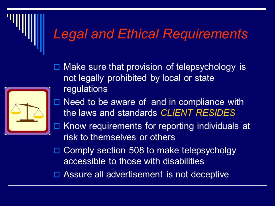 Legal and Ethical Requirements