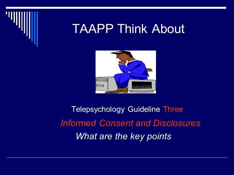 Telepsychology Guideline Three