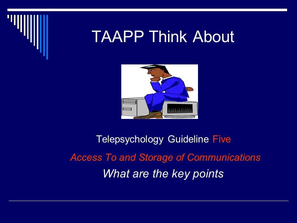 Telepsychology Guideline Five