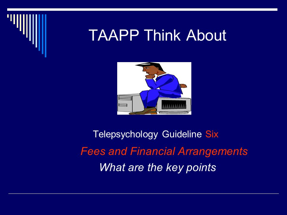 Telepsychology Guideline Six