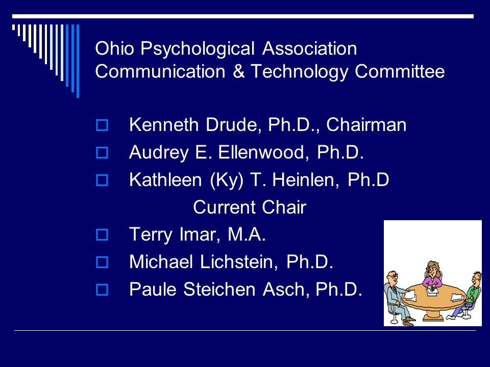 Ohio Psychological Association Communication & Technology Committee
