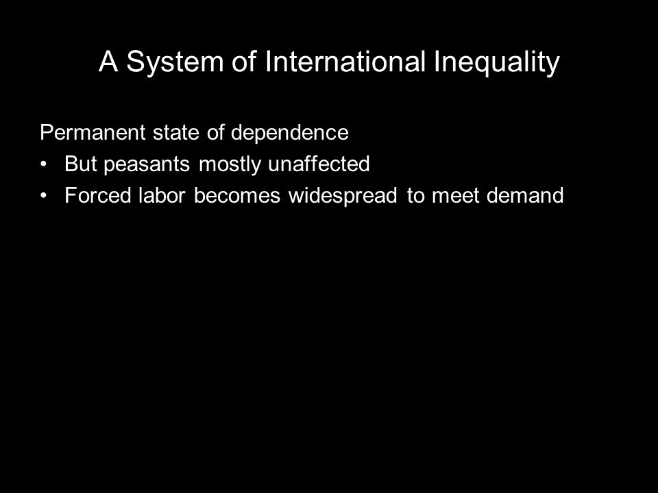 A System of International Inequality