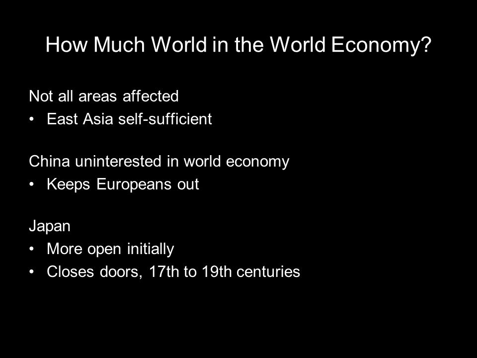 How Much World in the World Economy