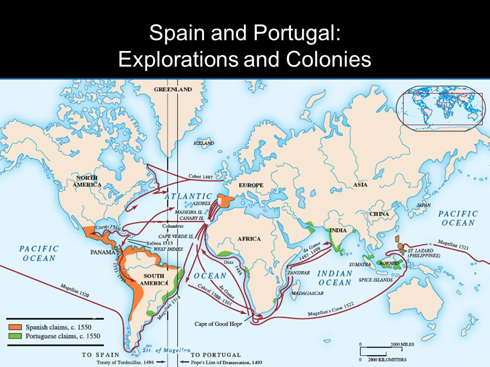 Spain and Portugal: Explorations and Colonies