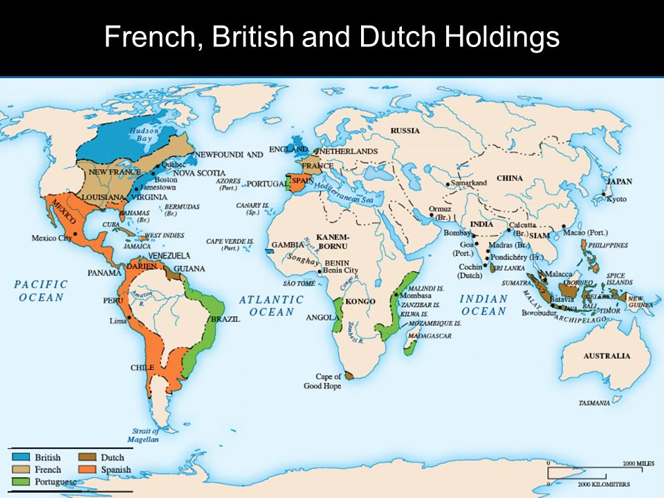 French, British and Dutch Holdings