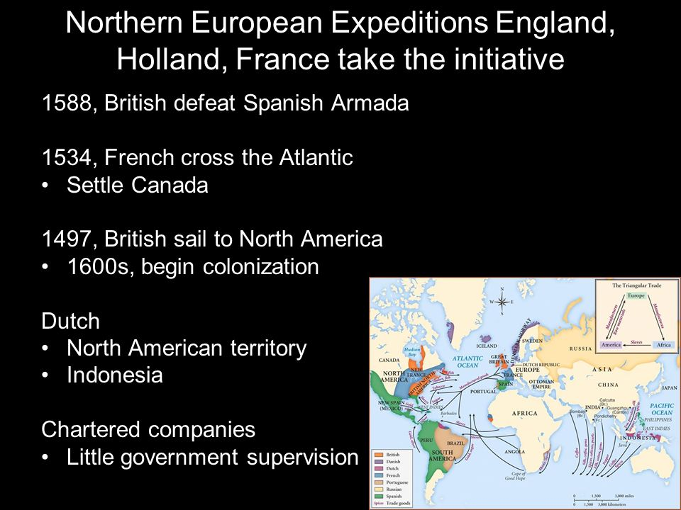 Northern European Expeditions England, Holland, France take the initiative