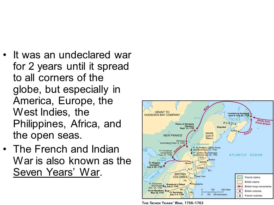 It was an undeclared war for 2 years until it spread to all corners of the globe, but especially in America, Europe, the West Indies, the Philippines, Africa, and the open seas.