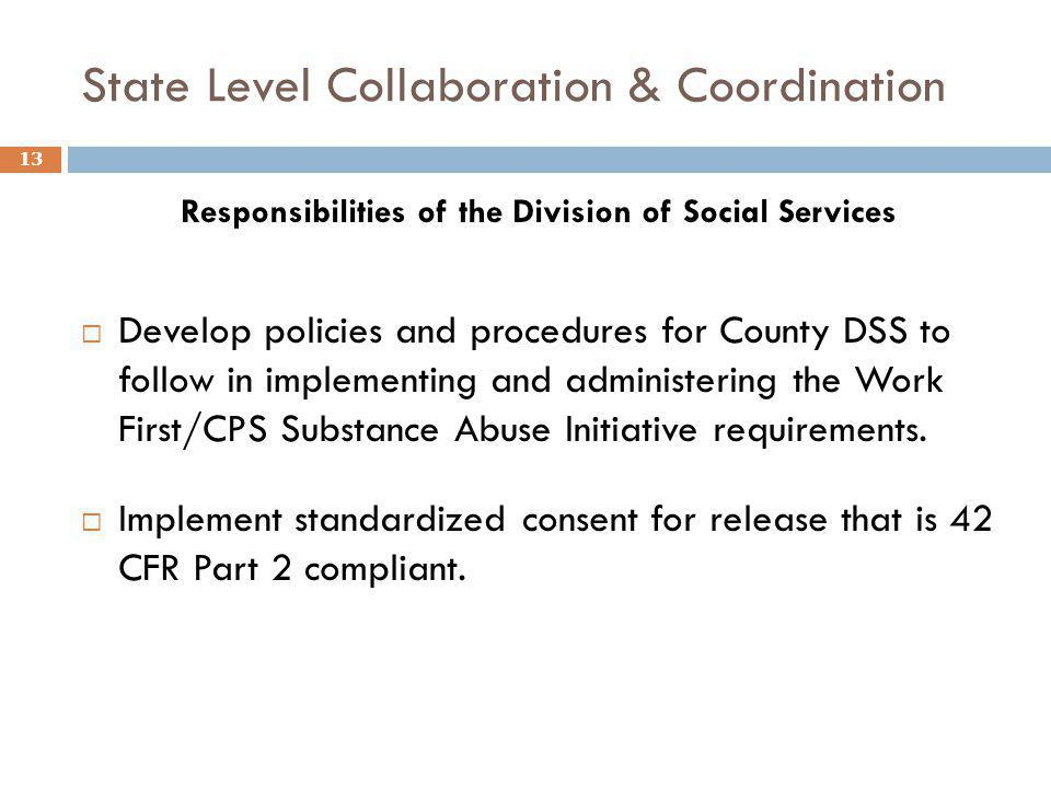 State Level Collaboration & Coordination