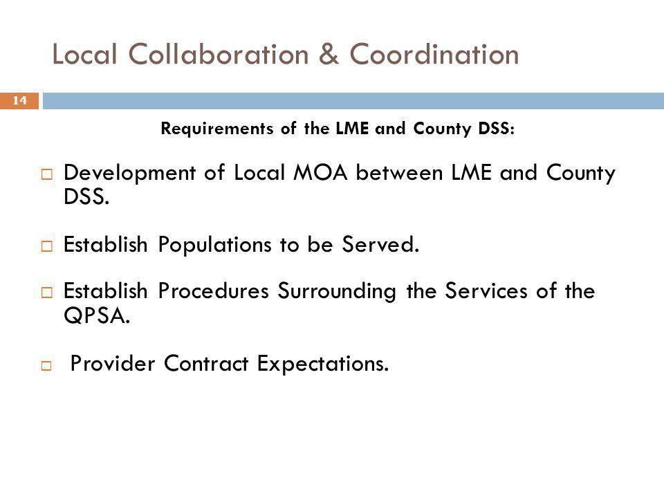 Local Collaboration & Coordination