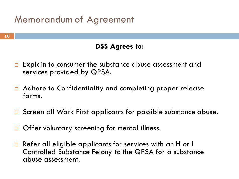 Memorandum of Agreement