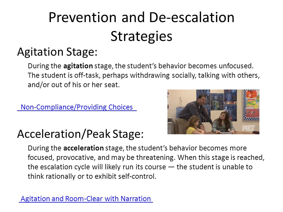 Prevention and De-escalation Strategies