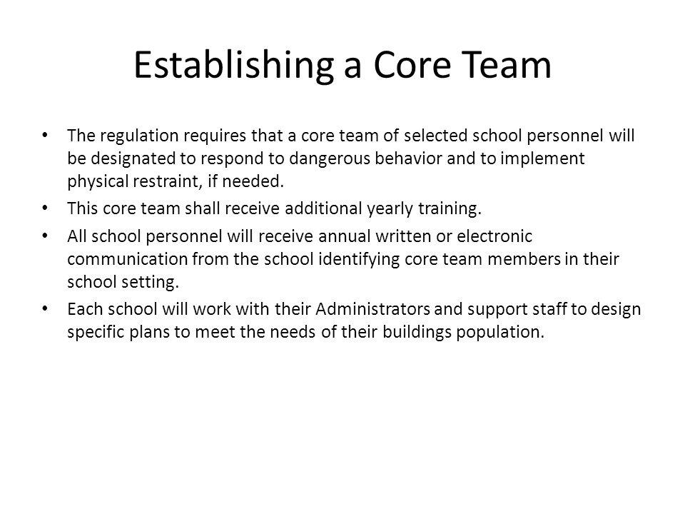 Establishing a Core Team