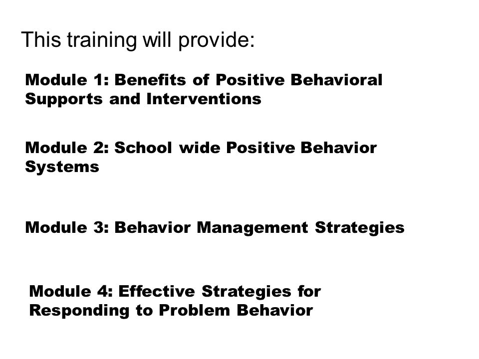 This training will provide: