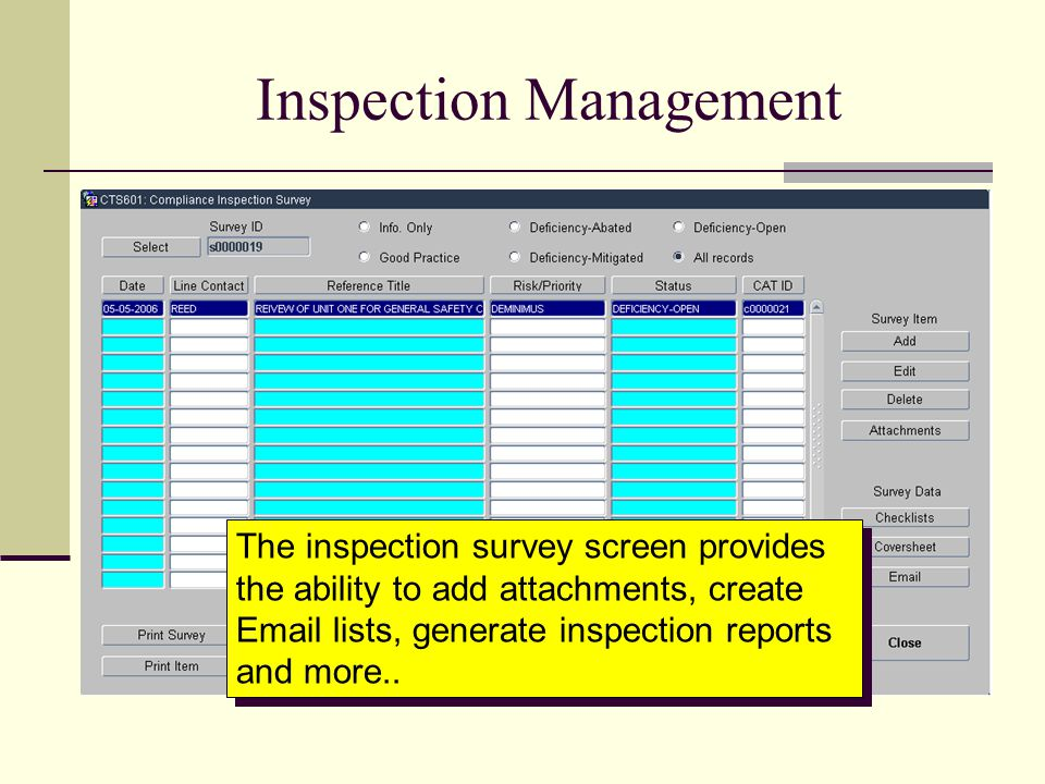 Inspection Management
