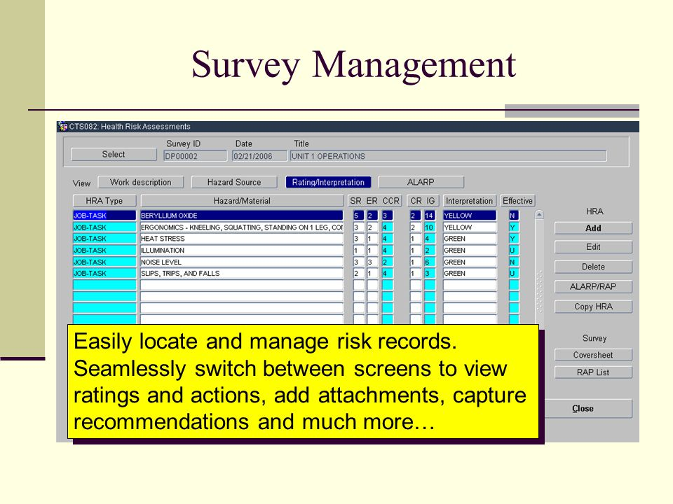 Survey Management
