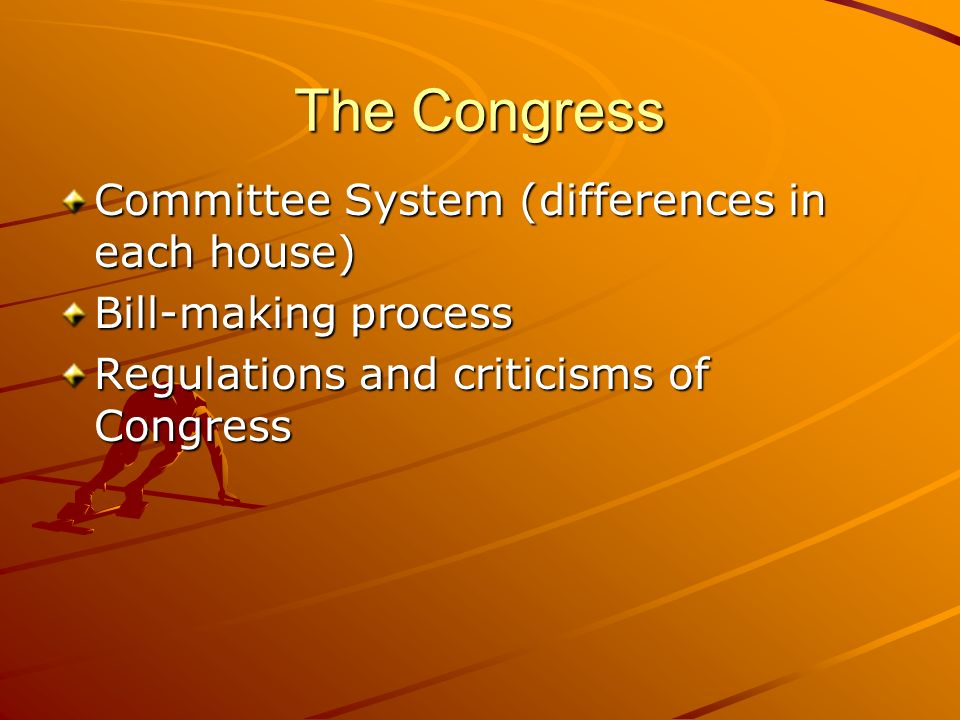 The Congress Committee System (differences in each house)