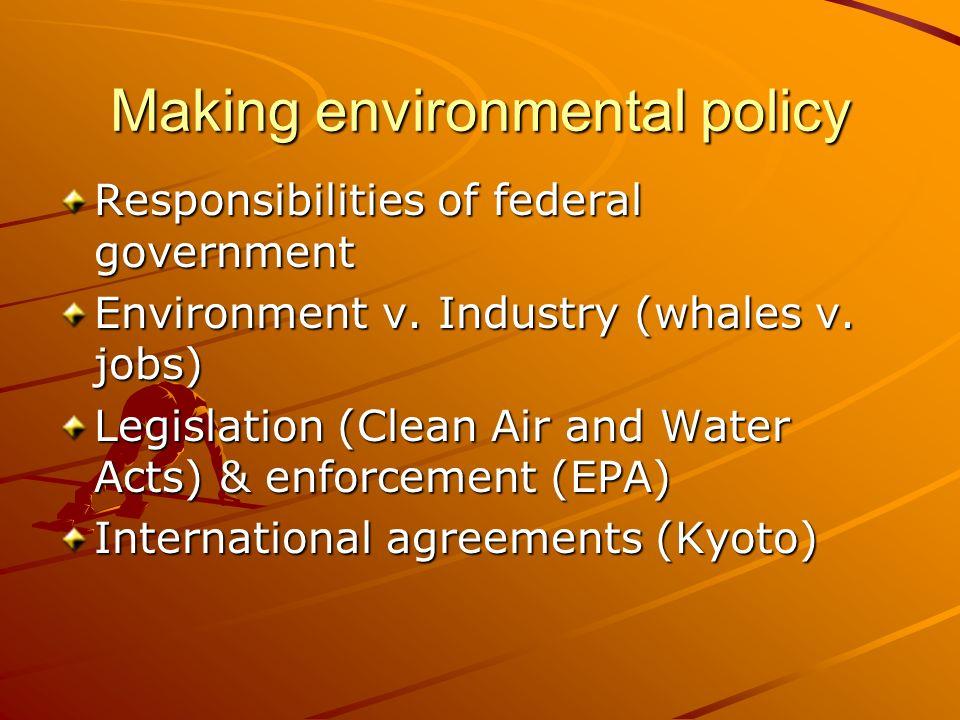 Making environmental policy