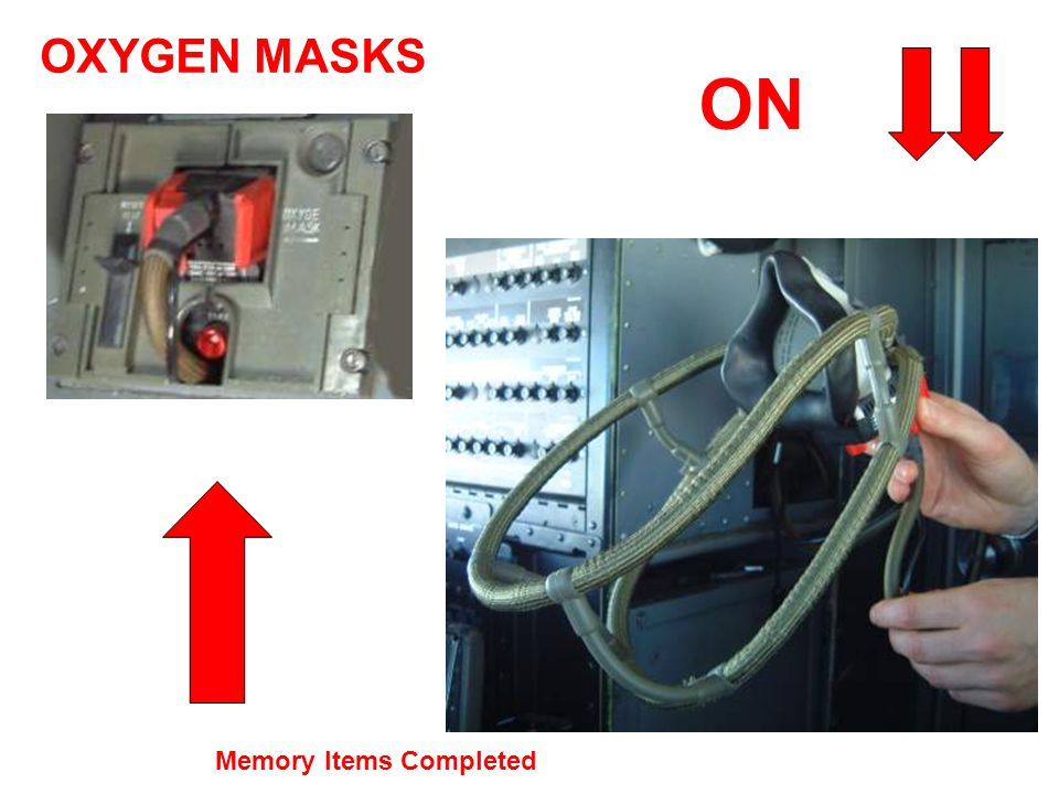 OXYGEN MASKS ON Memory Items Completed