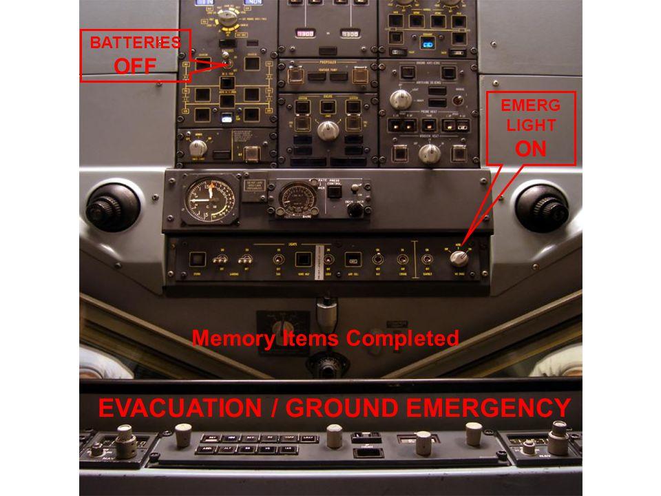 EVACUATION / GROUND EMERGENCY