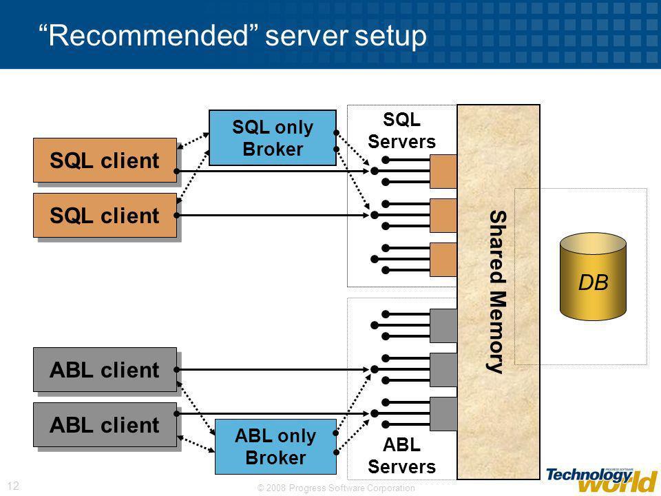 Recommended server setup