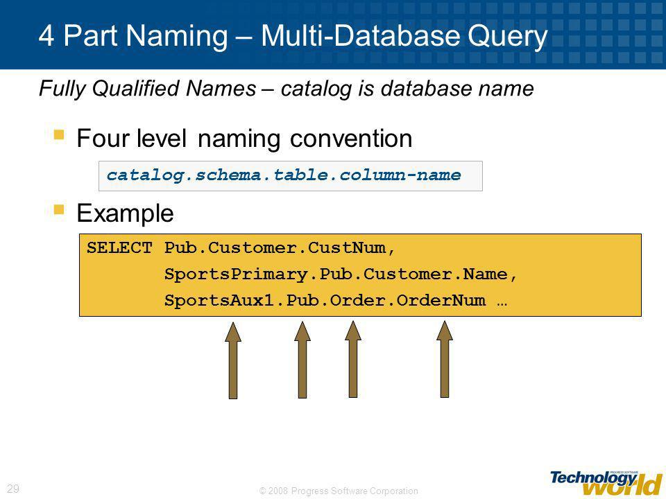 4 Part Naming – Multi-Database Query