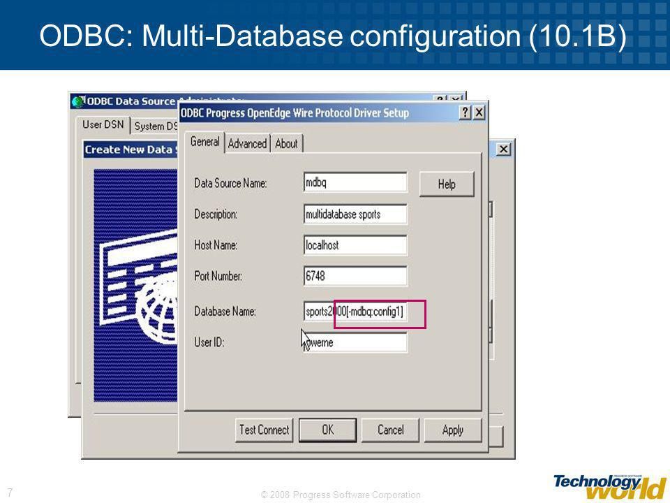 ODBC: Multi-Database configuration (10.1B)