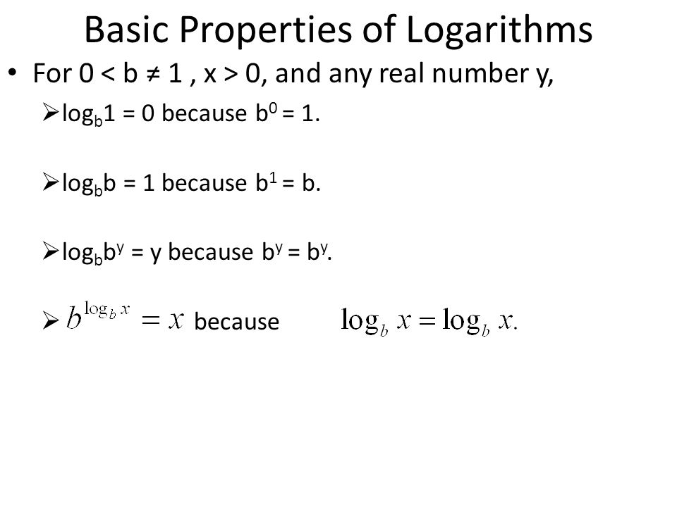 Basic Properties of Logarithms