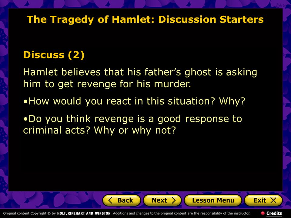 The Tragedy of Hamlet: Discussion Starters