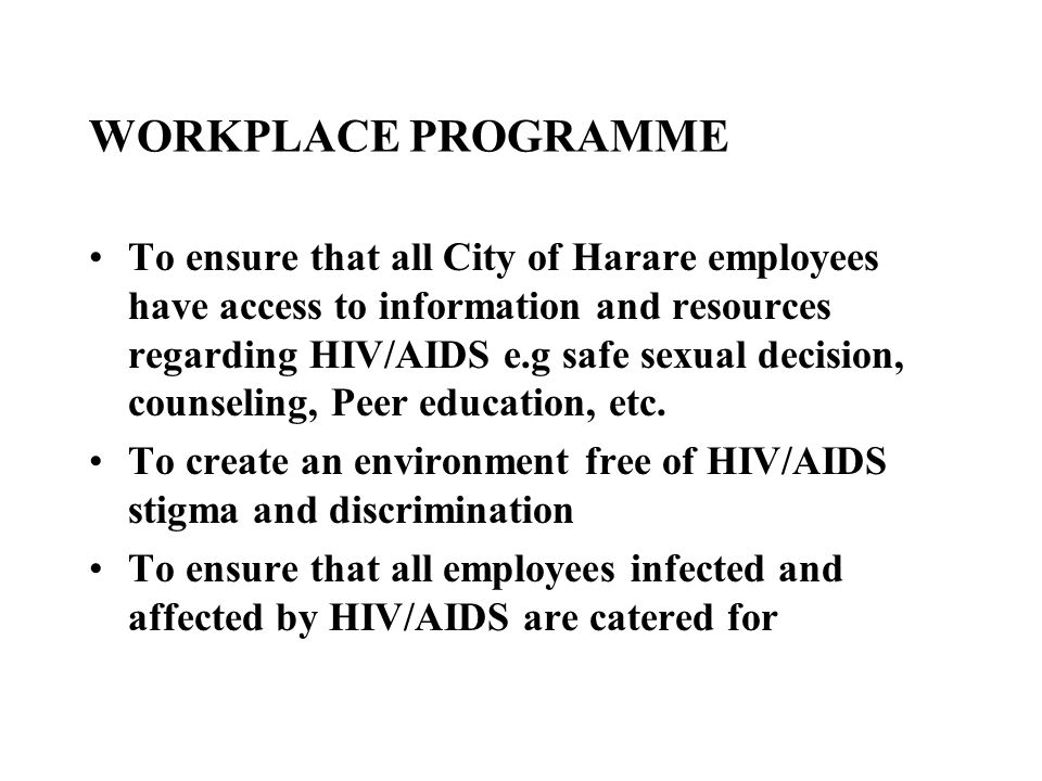 WORKPLACE PROGRAMME