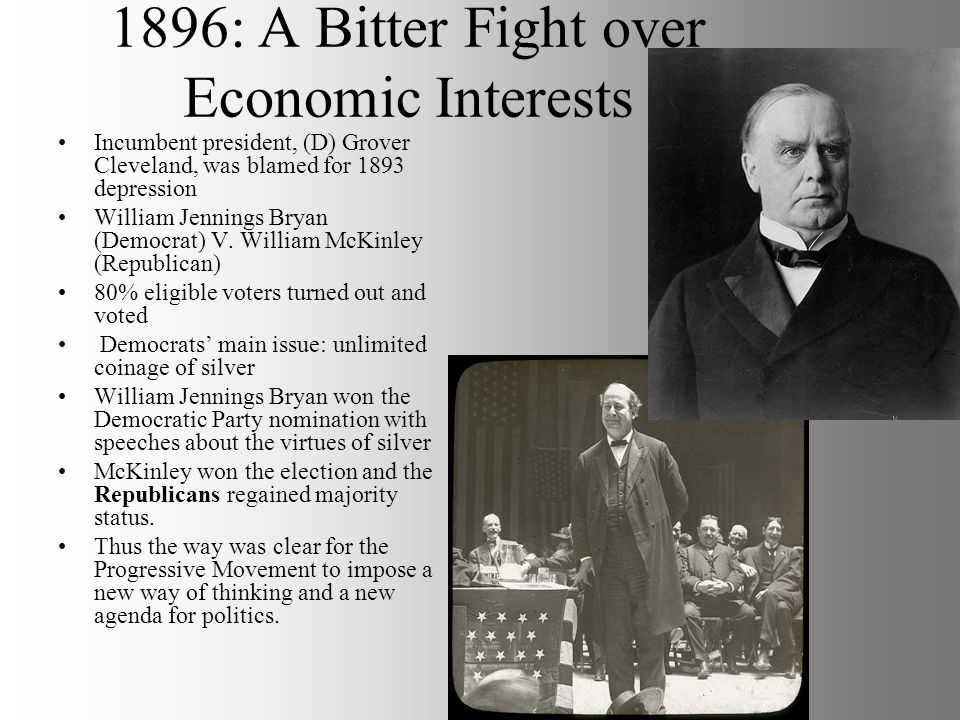 1896: A Bitter Fight over Economic Interests