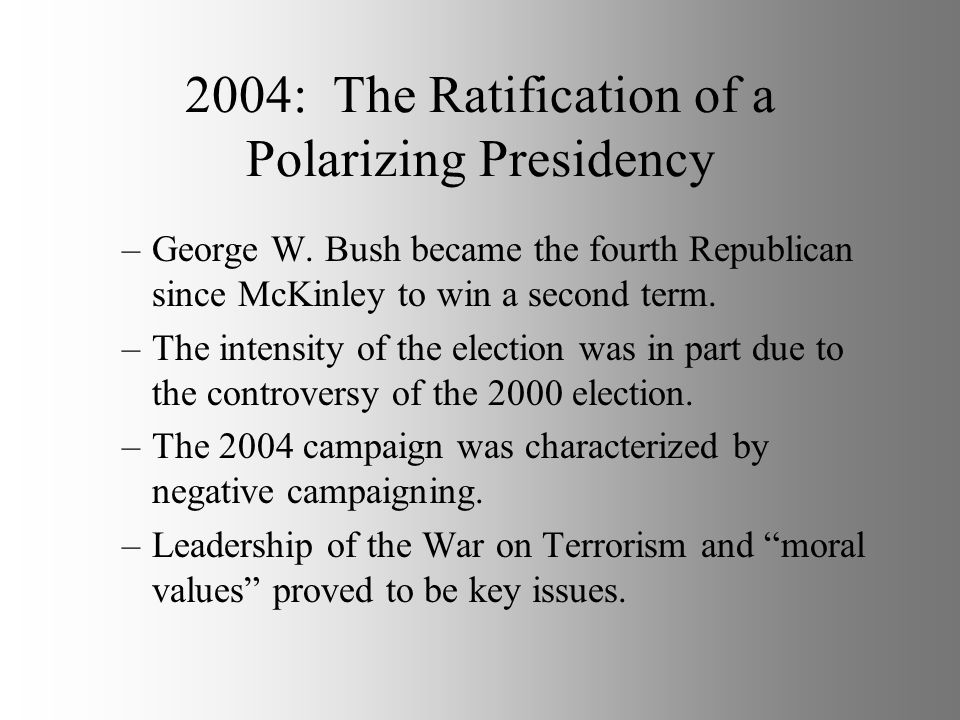 2004: The Ratification of a Polarizing Presidency
