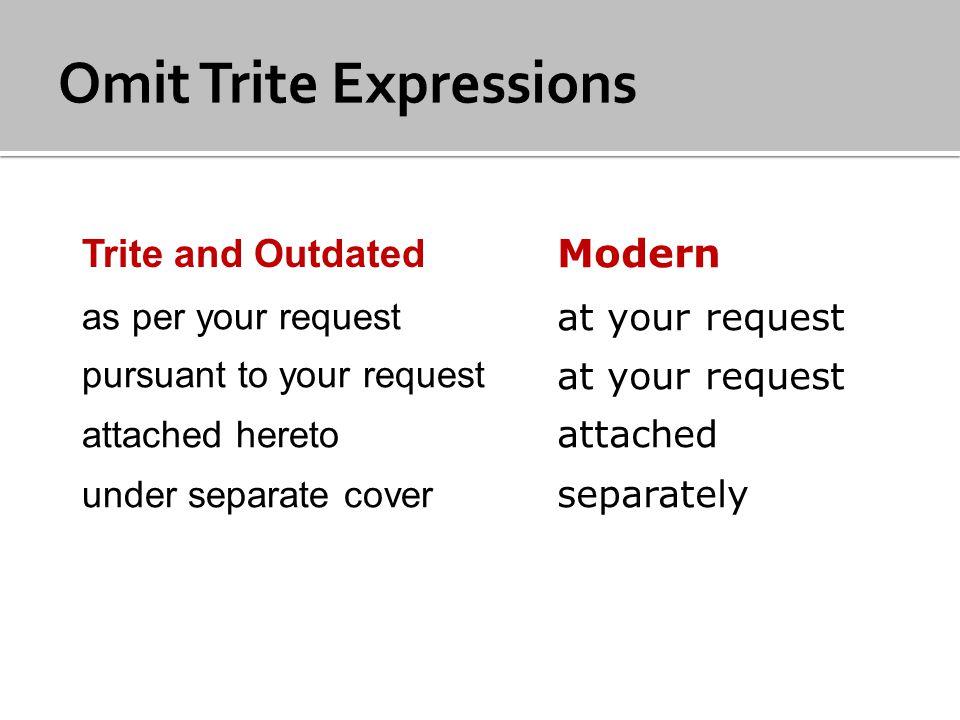 Omit Trite Expressions