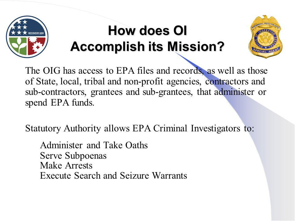 How does OI Accomplish its Mission