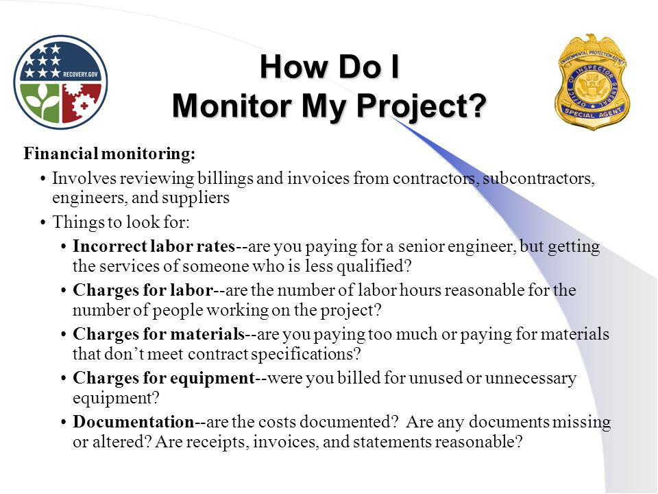 How Do I Monitor My Project