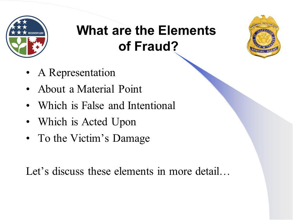 What are the Elements of Fraud