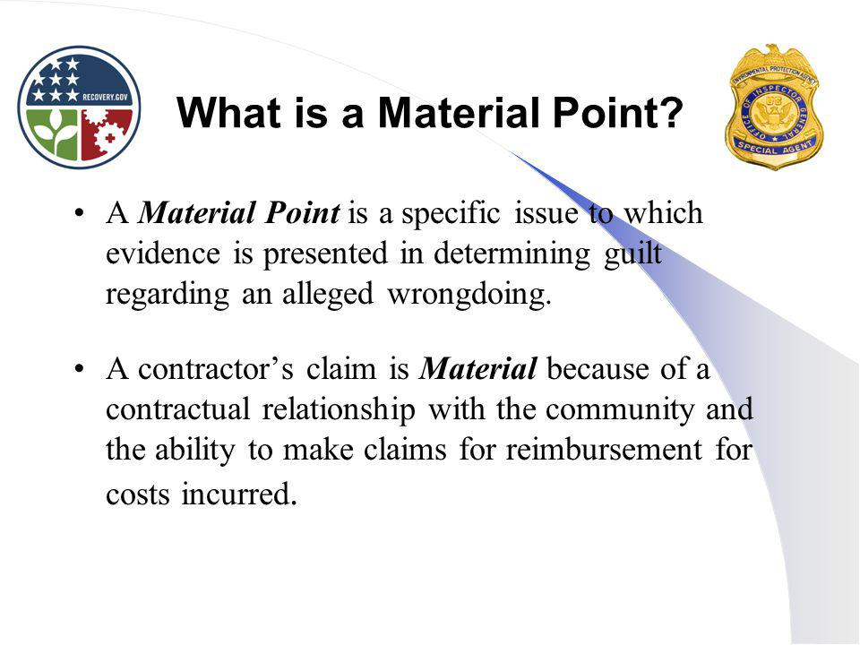 What is a Material Point