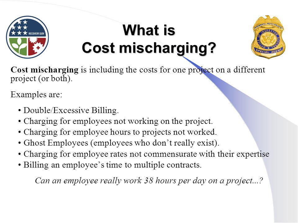 What is Cost mischarging